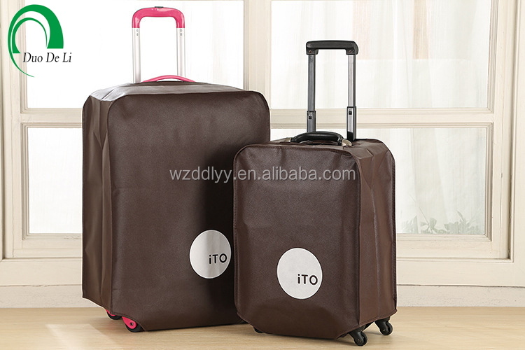 Custom printed nonwoven travel luggage cover