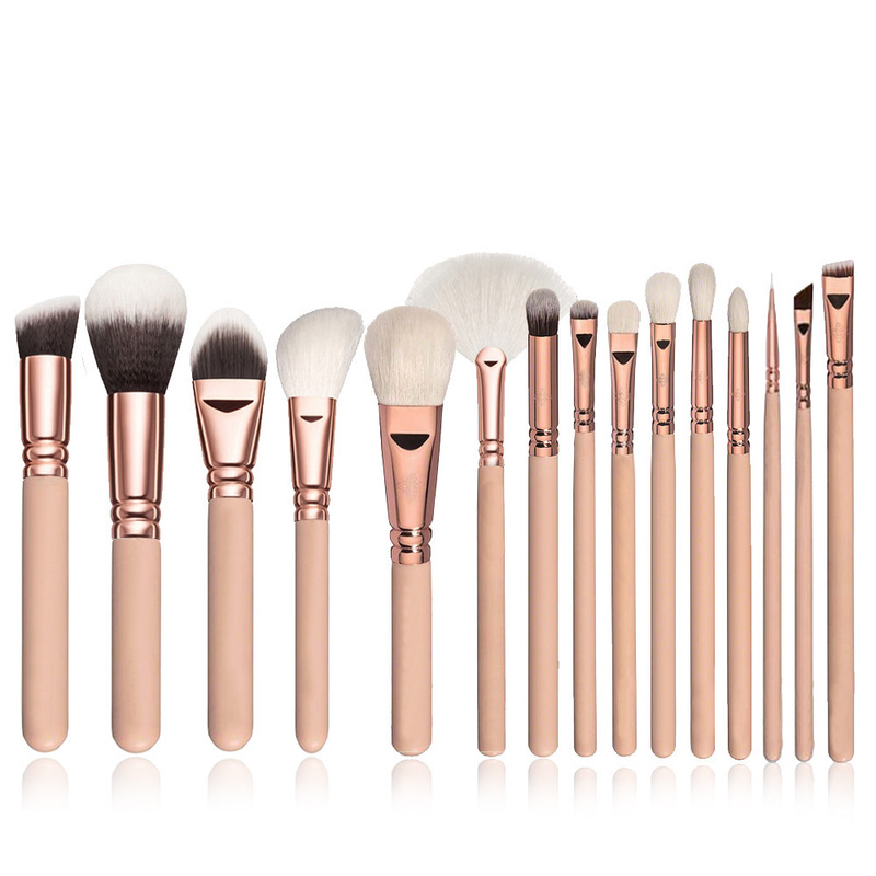 Makeup Brushes Set 15Pcs Foundation Powder Blush Cosmetic Brushes