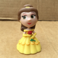 China suppliers vinyl princess figurines, cute design plastic princess figures toys, custom vinyl figuriness in yellow dress