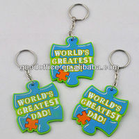 best sales high quality promotion gift soft pvc keyring
