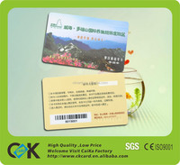 plastic employee id card/plastic signature panel cards/plastic pvc magnetic card