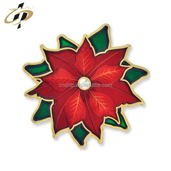 Hot sale metal enamel custom Christmas Brooch pins