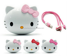 Hello Kitty shape real 4400mAh cartoon power bank