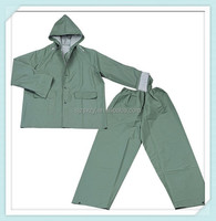 customized 100% waterproof pvc raincoat suit