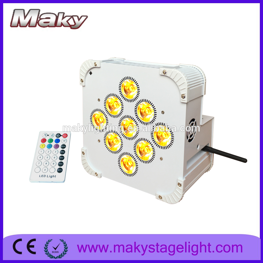 Dmx Party Wedding Bar uplight 9pcs 18w rgbwauv aluminum stage par 6in1 led par light for sale