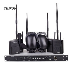Concerts & Events Special System Full-Duplex Four Channels 2.4G Digital Fixed Frenquency Wireless Intercom