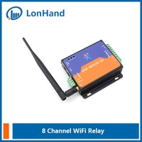 USR-WIFIIO-83 WIFI relay control /8 channel WIFI network remote control relay with RJ45 port--Support IOS/Andoird/MAC/PC