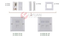 LY-FP39-1P-U6 RJ45 Network Wall Plates/ /CAT6 network module faceplate