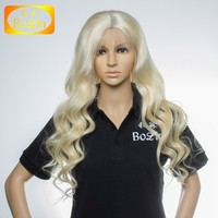 10inch to 30inch in stock color 613 blonde brazilian hand tied full lace wig human hair wig