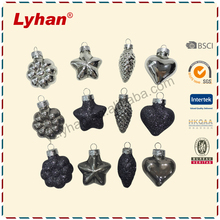 Lyhan mini mold Christmas Ornaments with flower star heart pine cone hanging Decorations