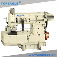TOPEAGLE TMN-1412PMR1-D series 12-needle flat-bed double chain stitch kansai special sewing machine