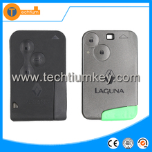Low price high quality smart key card case shell with blade and logo key card for Renault Megane Laguna