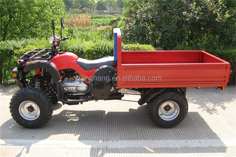 250cc atv quad with cargo trailer