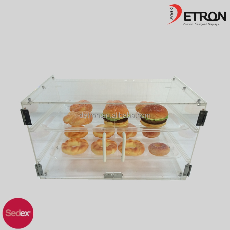 2016 Hot sale modern acrylic bakery display cabinet counter 2 layer