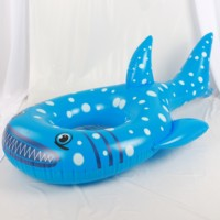 pvc inflatable toy custom inflatable swim pool floats ring shark swimming ring tube for pool party