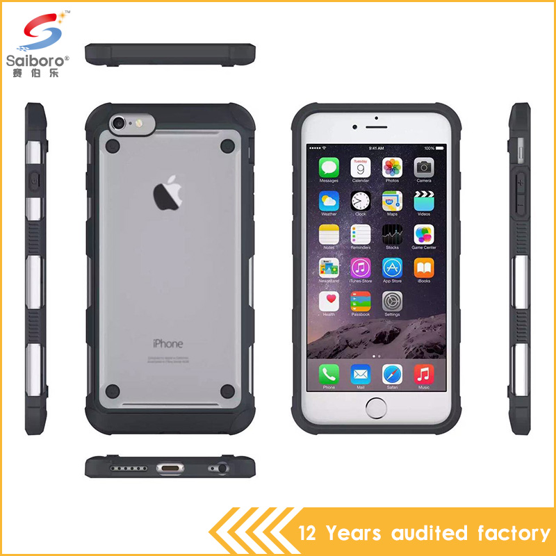 Fashion Frosted Transparent Tpu Bumper Case for iPhone6 , Silicon Apple Back Cover