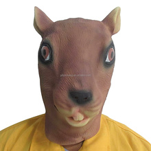 Latex Rubber Animal Squirrel Mask for Adults Halloween Party Costume