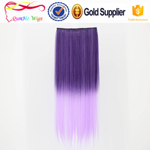 Customized bulk long artificial hair accessories extentions BB clip in hair wig 5clip hairpinece