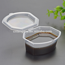 Colored Plastic Pudding Cups Disposable souffle cup with lid