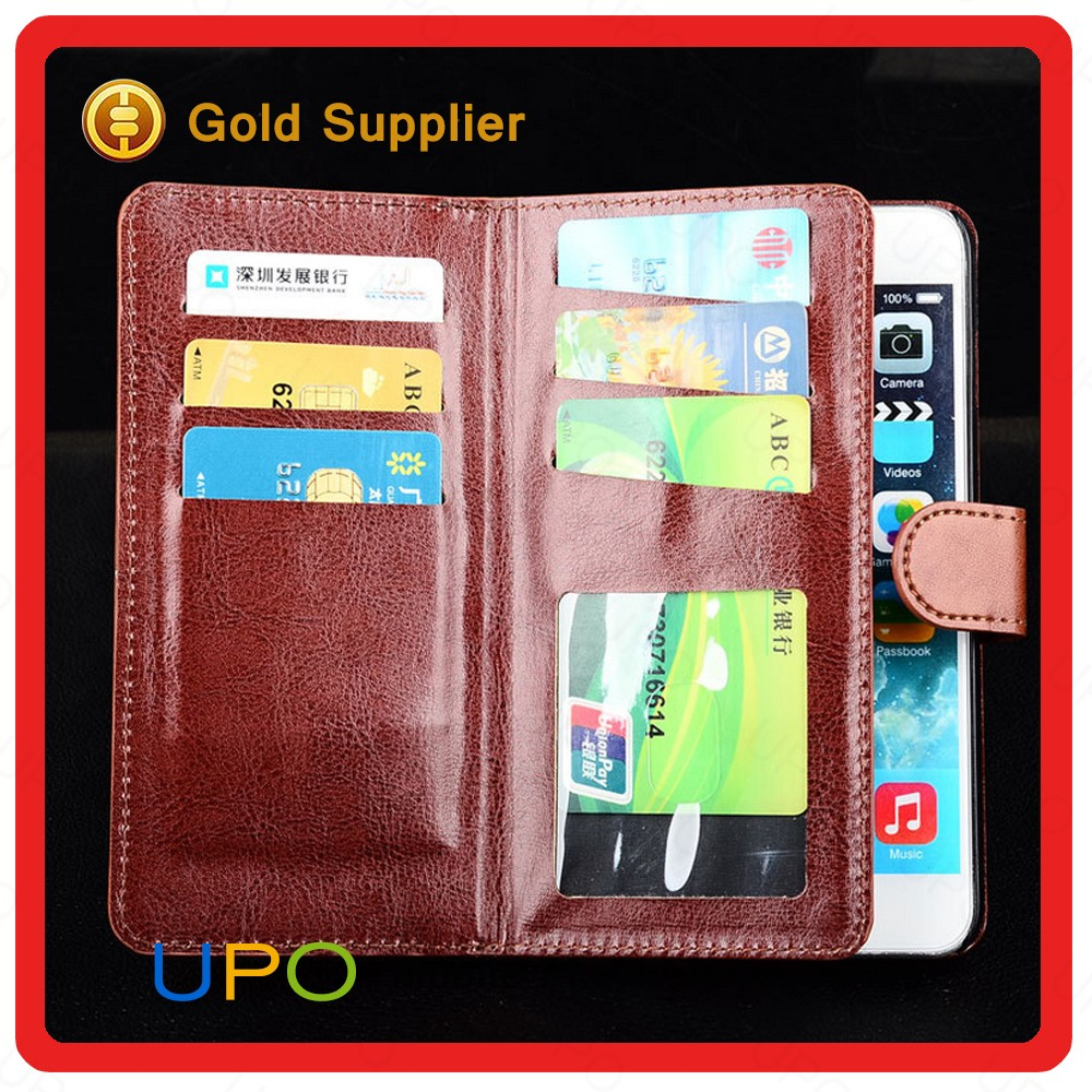[UPO] 2016 Card Holder PU Leather Filp Wallet Cell Phone Case for iPhone 6 6s plus Wallet Leather Case