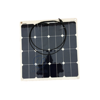 sun power 50w flexible solar panel for 12v battery charger