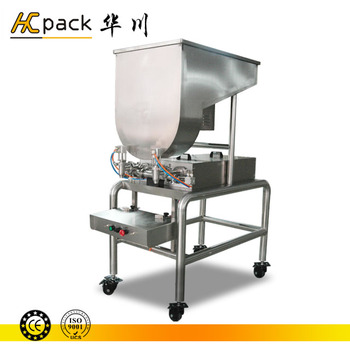 Double heads semi automatic tomato chili sauce filling machine