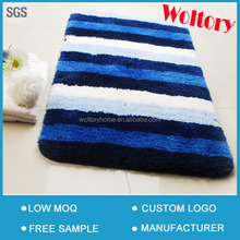 Anti-skid Latex or Rubber back Microfiber Home washable bathroom rugs