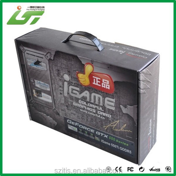 High quality China wholesale clear plastic handles corrugated boxes