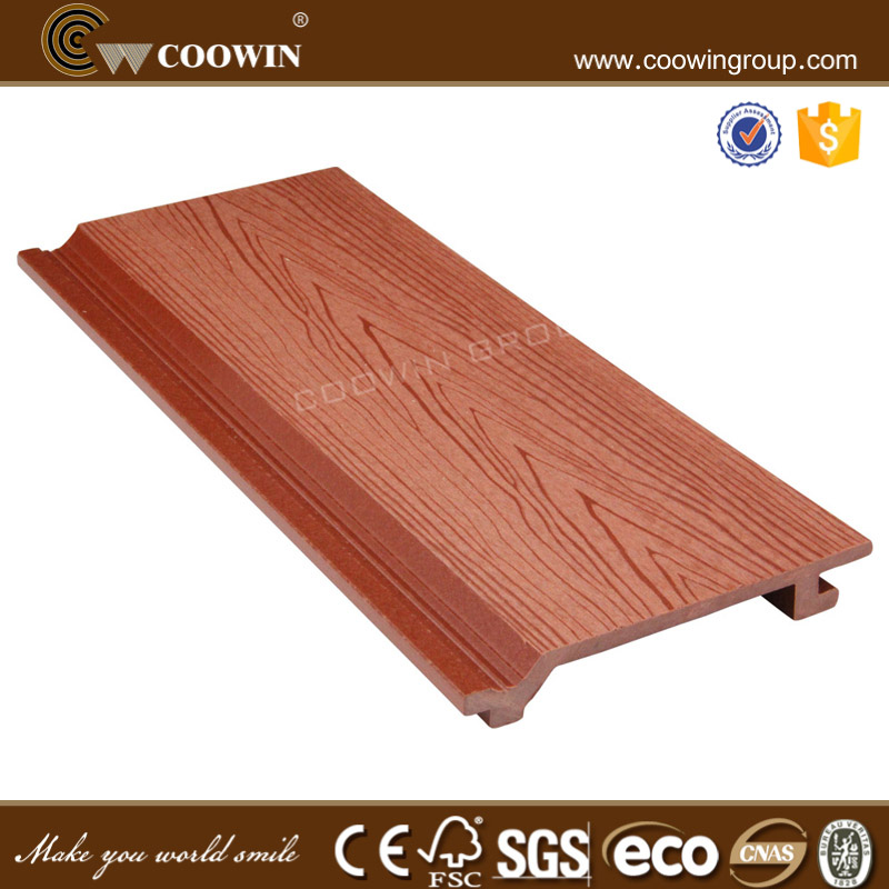 Plastic composite outdoor wood siding sheet