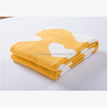 Cynthia Wholesale Hot wholesale!!! Bamboo Baby Blanket Throws Knitted Solid Waffle Weave Infant Swaddle Blanket