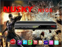Nusky N1GS twin tuner iks sks freesky freei petra decodificadores fta with DVBT2 and GPRS