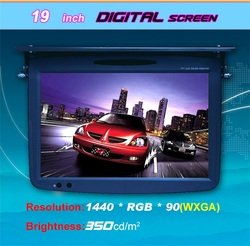 19 inch bus advertising players/LCD monitor/bus tv DVD player