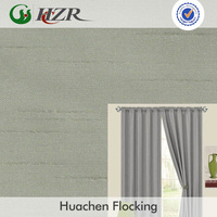 Faux silk slubbed/bamboo faced living room window curtain fabric profesional manufacture Hangzhou supplier