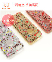 CASECUBE Colorful Diamond Case For iPhone 6 Plus,Lovely TPU+PC Rhinestone Back Cover For iPhone 6 Plus/6S Plus 5.5'' PCC-007-1