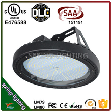 UL DLC CUL SAA listed 100w 150w 200w UFO LED high bay light for exhibition hall and municipal engineering