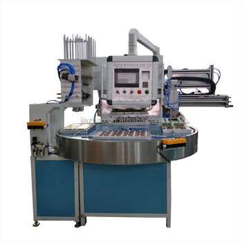 Automatic round table toy blister + paper card packing machinery
