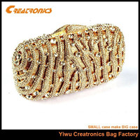 Indian clutch purses wholesale gold clutch crystal purse dropship