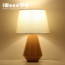 moderen room decor table lamp with wood lamp base