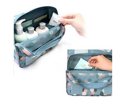 Hanging Travel Toiletry Bag Waterproof Nylon Makeup