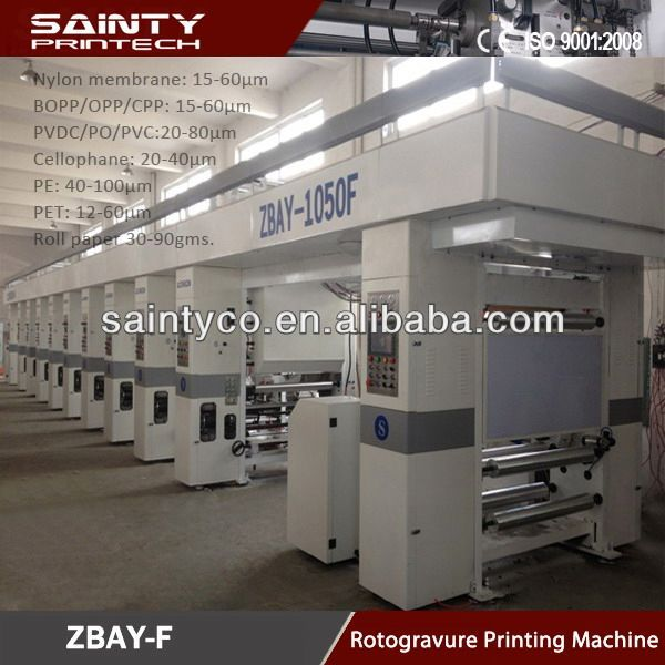 New Arrival rotogravure printing machine japan