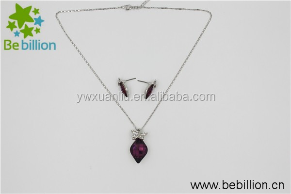 yiwu High quality Fashion Crystal diamond Alloy necklace jewelry, wedding women necklace ,alloy necklace set
