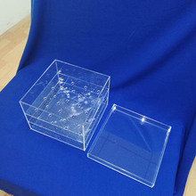 Custom Clear Acrylic Flower Display Box Case Lucite Rose Packaging Box with a lid