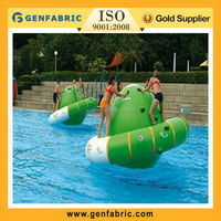 Durable pvc inflatable saturn/water rotating top