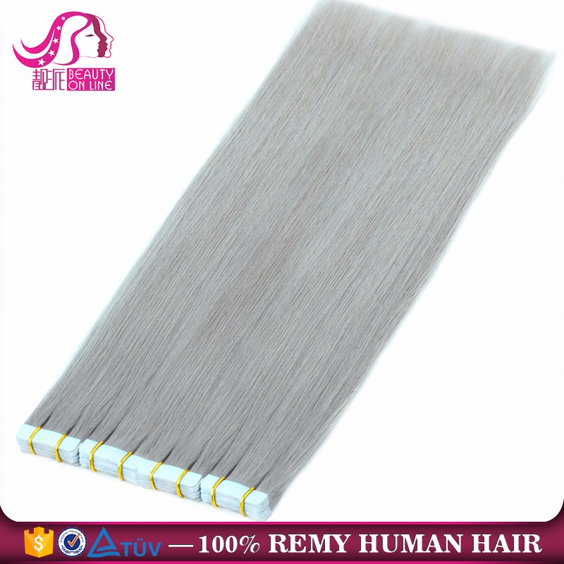100% Remy Hair Brazilian Remy Tape Hair Extensions Highlight Silky Straight Tape in Human Hair Extension