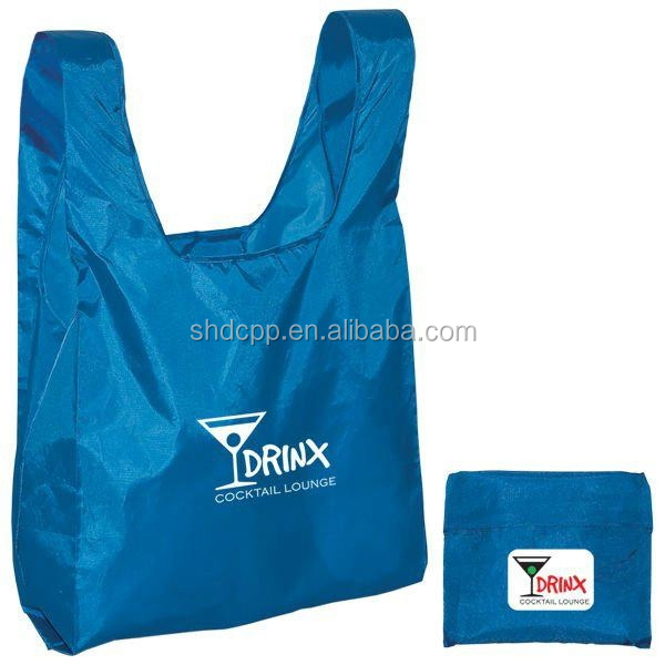 Quality new arrival polyester compact reusable shopping bag