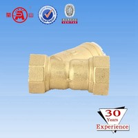 Y-stainer filter valve for cold water