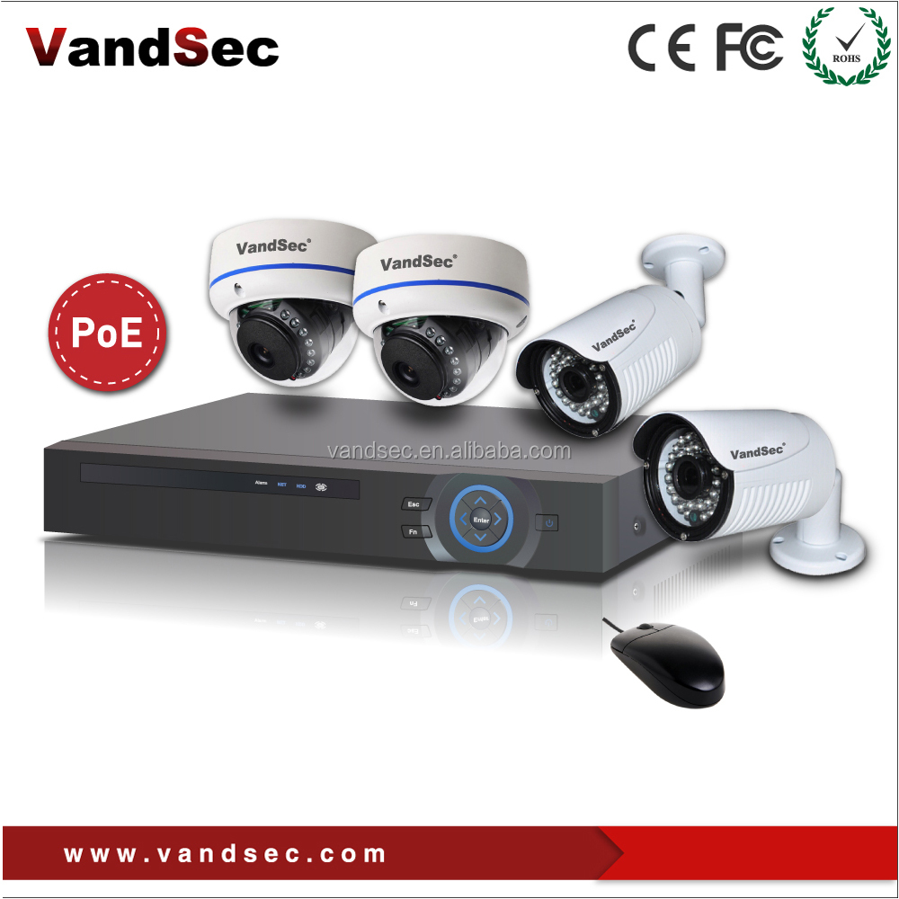 New Year-Onvif 4-CH NVR & IP Camera POE kits for home security system