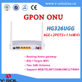 FTTH GPON ONT wireless router wifi onu 4GE+2FXS+WiFi+USB