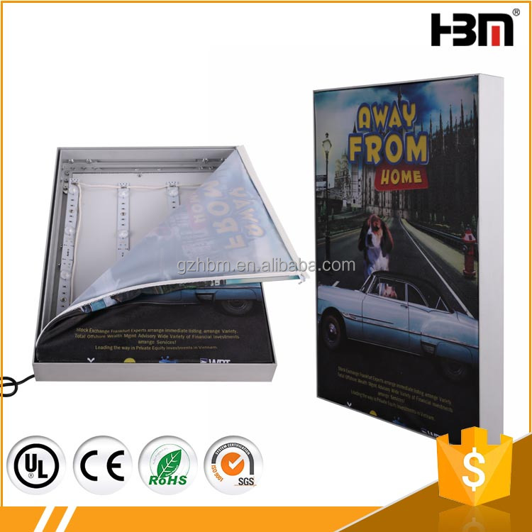 Best Price Slim Aluminum Poster Frame LED Backlit Light Box