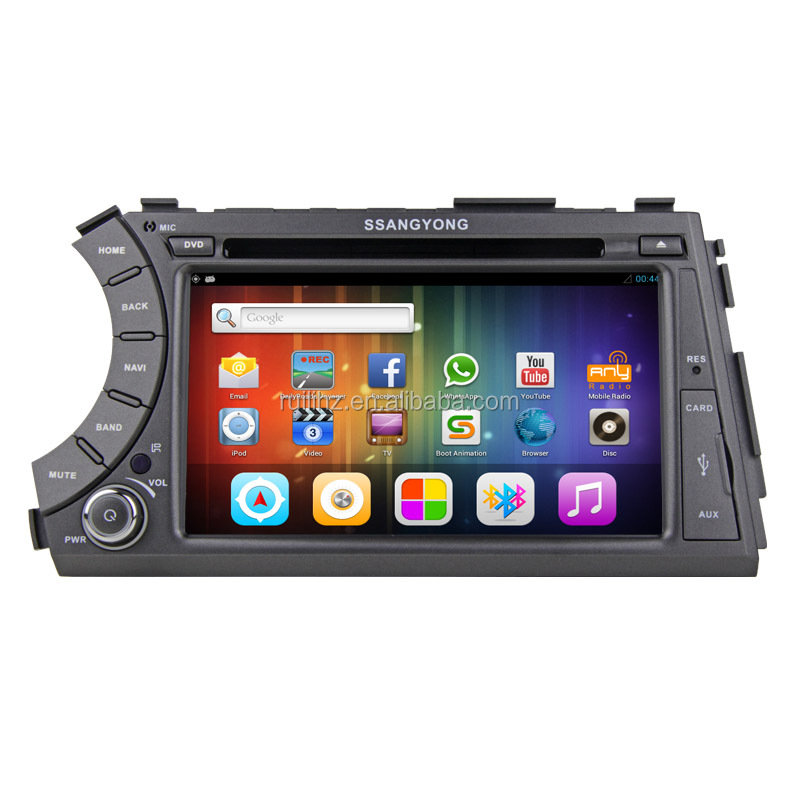 For Ssangyong Acton/Kyron android 6.0 car gps dvd with Wifi buetooth